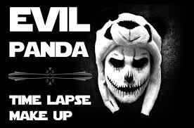 panda halloween makeup evil panda make up time lapse youtube