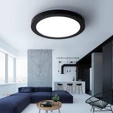 eclairage chambre led moderne led dimmable plafond éclairage noir et blanc dia35 65cm