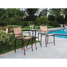 Patio Furniture Bar Height Bistro Set Glass Top Table Bar Height Chairs Outdoor Patio