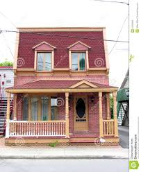 retro house in small town canada stock photo image 67924203