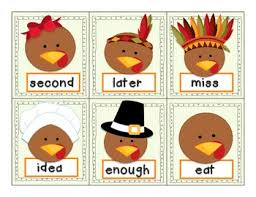thanksgiving fry s third 100 high frequency words by