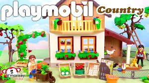 playmobil country farmhouse with market and vegetable garden with