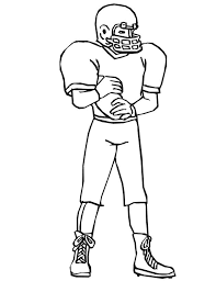 football coloring picture player with ball jesse owens coloring