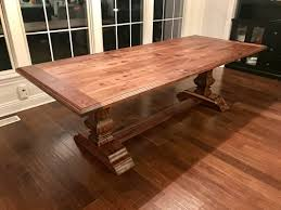 furniture rectangular walnut dining table with wooden flooring