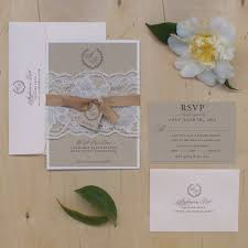 blush wedding invitation vintage lace wedding invitation rustic