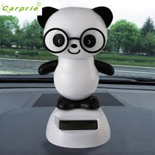 panda car decor ornaments solar powered swinging best
