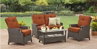 Wicker Patio Conversation Sets Better Homes And Gardens Oak Terrace Wicker Patio Conversation Set
