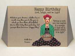 this is the birthday card frida kahlo birthday card mailed for you caregatto