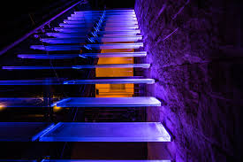 led strip lights for stairs edgelit color changing stairs elemental led