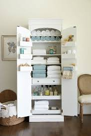 Cabinets For The Bathroom Freestanding Cabinet For Craft U0026 Linen Storage Linen Spray