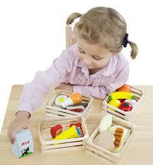 Childrens Toy Wooden Kitchen Amazon Com Melissa U0026 Doug Food Groups 21 Hand Painted Wooden