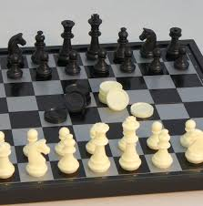 magnetic chess with checkers set newcentco board games