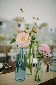 Mismatched Vases Wedding Rustic Florals In Mismatched Vases Photo By Tec Petaja Design