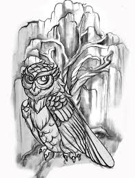 owl on tree on biceps owls on a willow tree tattoos