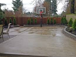 Patio Backyard Ideas by Stamped Concrete Patio Coming Off Of A Simple Deck Just Needs