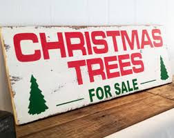 trees for sale wood sign distressed sign