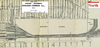 grant park chicago map history of grant park 1909 14 chicago library
