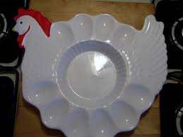 vintage deviled egg plates vintage teleflora hen deviled egg plate platter tray portugal