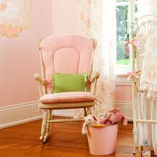 Rocking Chair Cushions For Nursery by Stripes Peach Pads On The Back And Seat Feat Small Green Cushion