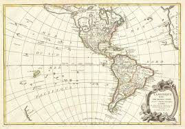 Vintage Map North And South America Vintage Map Stock Photo Picture And