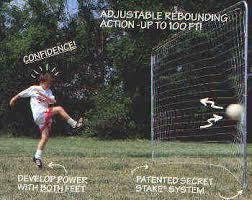 Soccer Net For Backyard by Kickback Patented Backyard Rebounding Soccer Goals