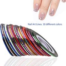 amazon com ruimio 30 nail striping tape 15 nail art brush 12