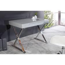 Schreibtisch Hochglanz Schreibtisch Konsolentisch Vally Hochglanz Grau Mit Schublade