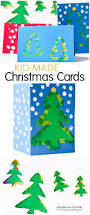 fingerprint christmas tree cards with templates fun handprint art