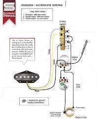 wiring diagrams seymour duncan esquire alternate guitarra