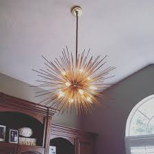 Candle Chandelier Pottery Barn Starburst Foyer Chandelier Editonline Us