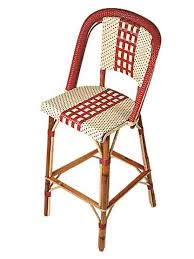 Woven Bistro Chairs French Cafe Stools With Backs Restaurant Stools Bistro Stools
