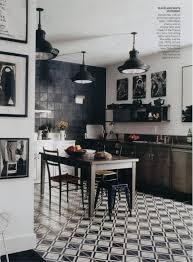 Black And White Kitchen Floor Tiles - alluring 80 black and white tile kitchen design decoration of