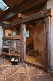 Rustic Bathroom Designs Rustic Bathroom Bathroom Pinterest Rustic Stone Showers Images 14