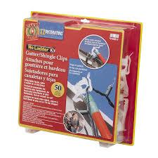 christmas light gutter hooks shop st nick u0027s choice 50 pack decorative gutter shingle clips at