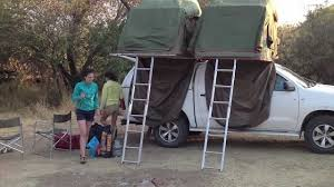 jeep tent inside set up a rooftent in namibia youtube