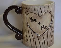 Tree Mug Carved Tree Mug Etsy