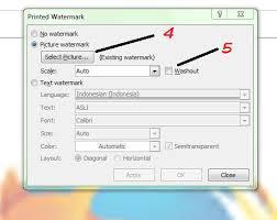 cara membuat tulisan watermark di excel membuat gambar atau logo transparan di belakang tulisan