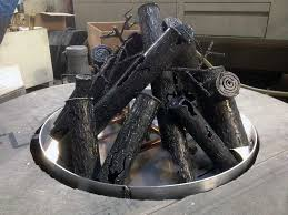 Firepit Logs 34 Welded Gas Steel Log Set For Pits Or Fireplaces
