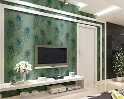 merak biru beibehang merak biru bulu 3d wallpaper yang modern kamar tidur