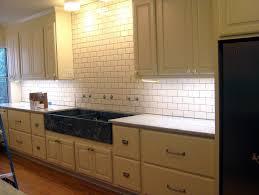 white subway tile backsplash with dark grout home design ideas