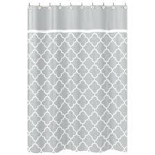 grey white shower curtain sweet designs grey white trellis shower