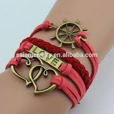 leather bracelet styles images Infinity symbol shaped heart love leather rope multilayer bracelet jpg