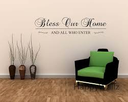 compare prices on quote wall decal online shopping buy low price bless our home and all who enter family quote wall stickers decorating diy family lettering quote
