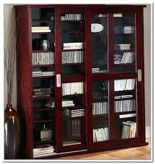 dvd cabinets with glass doors dvd cabinet a great close up view of three of the media storage