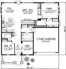 Rancher House Plans Small Two Bedroom House Plans 1560 Sq Ft Ranch House Plan With