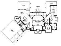 chateau floor plans 1 5 story traditional house plan dupont chateau