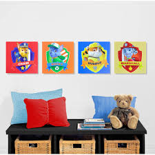 Wall Art by Nickelodeon Paw Patrol 4 Piece Canvas Wall Art Walmart Com