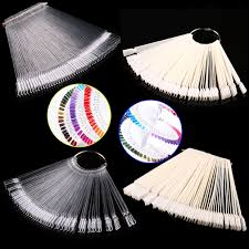 fan sticks 50pcs false display pops nail fan wheel practice tip
