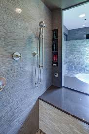 Shower Enclosure Bathroom Suites Spacious Master Bathroom With Step Up Tub And Glass Shower