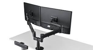 ergotron lx hd wall mount swing arm amazon com uplift desk dual monitor arm office products